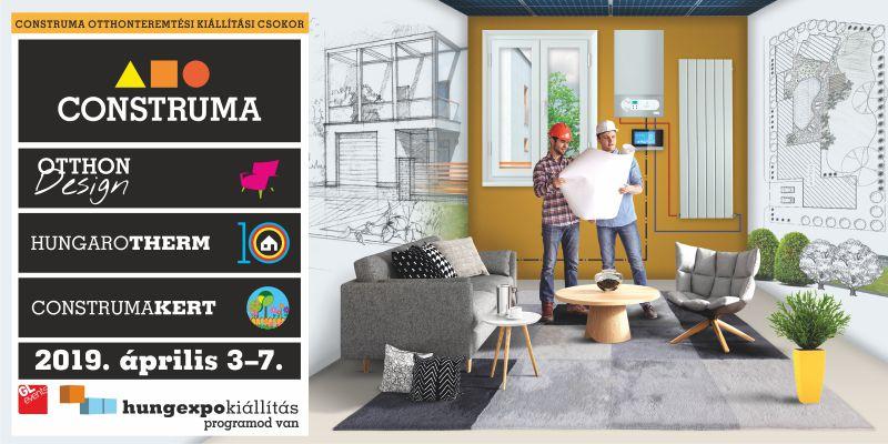 CONSTRUMA otthonteremtési kiálltási csokor április 3-7. között