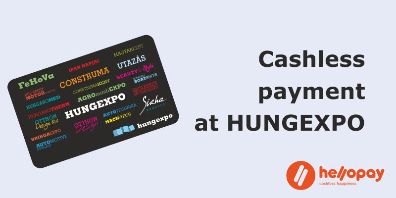 Cashless payment at HUNGEXPO Budapest Congress and Exhibition Center