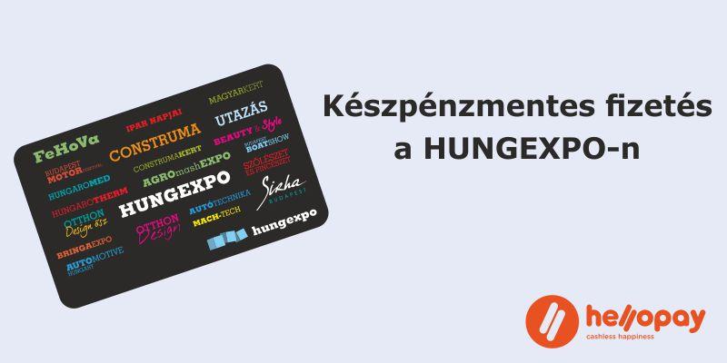 Készpénzmentes fizetés a HUNGEXPO Budapest Kongresszusi és Kiállítási Központban